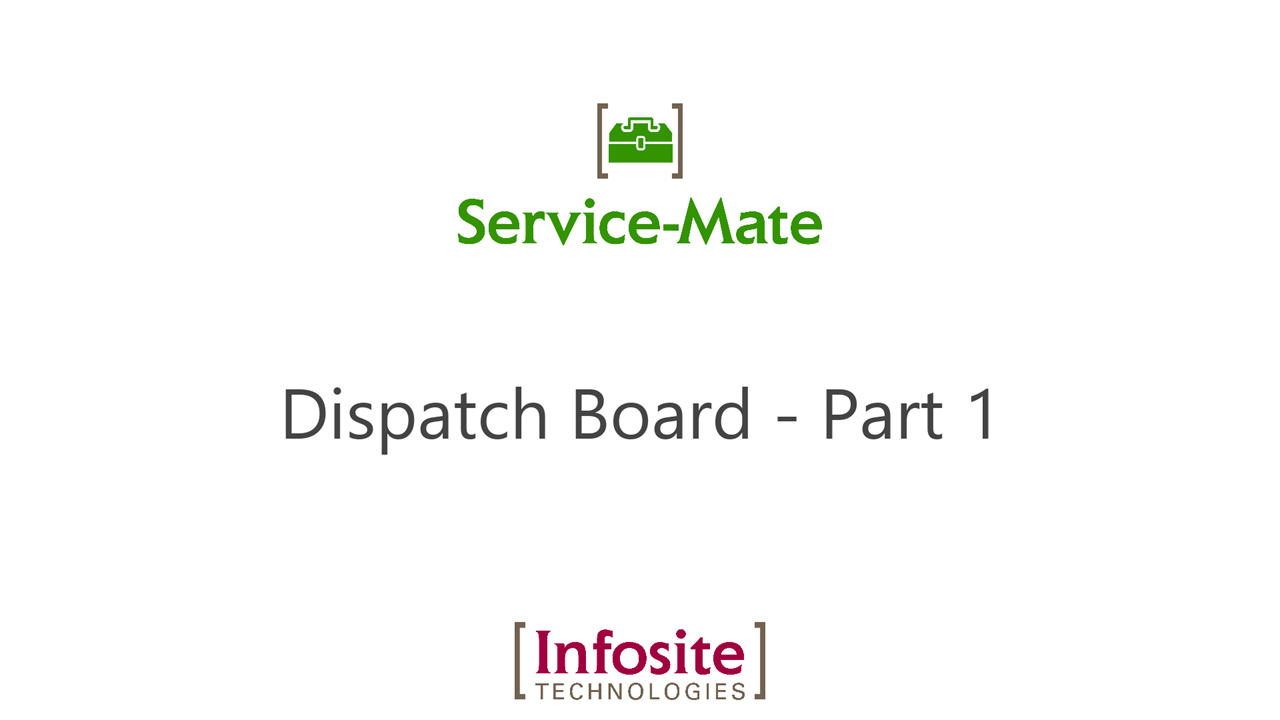 Dispatch Board - Part 1